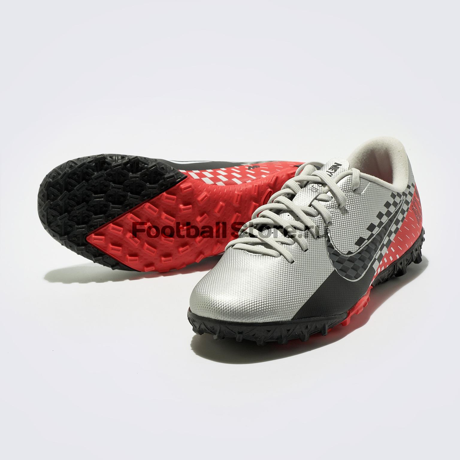 цены на Шиповки детские Nike Vapor 13 Academy Neymar TF AT8144-006  в интернет-магазинах