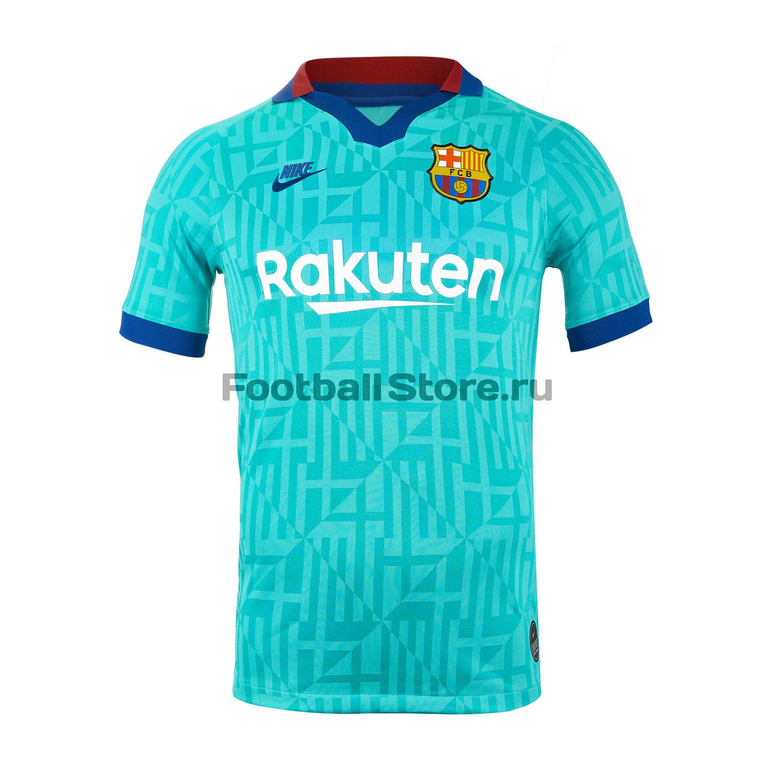 Футболка игровая резервная Nike Barcelona 2019/20 женская игровая футболка nike barcelona home stadium 894447 456