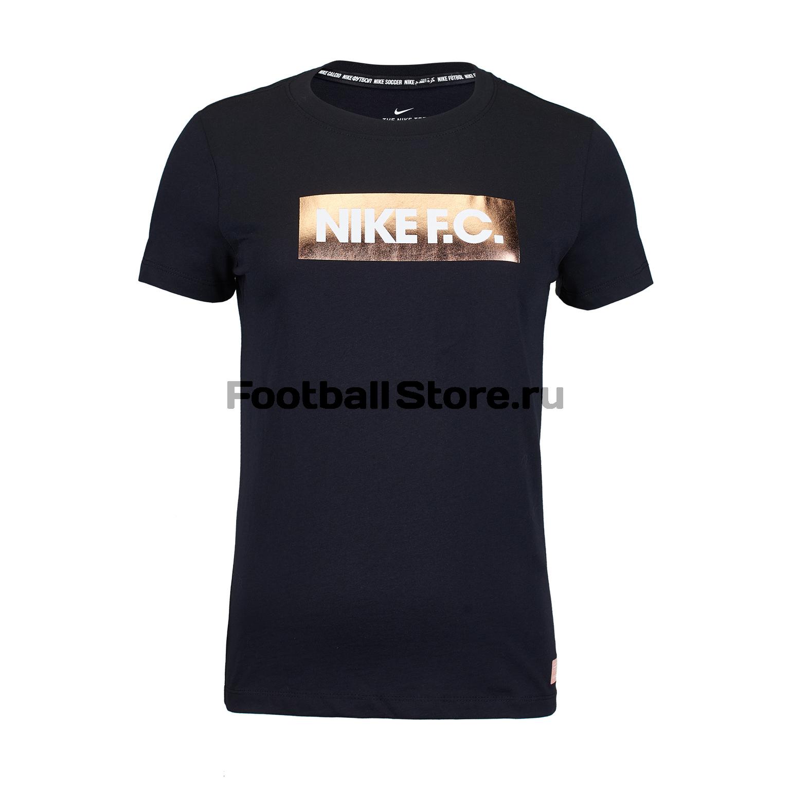 Футболка хлопковая женская Nike F.C. Tee Block Logo BV7097-010