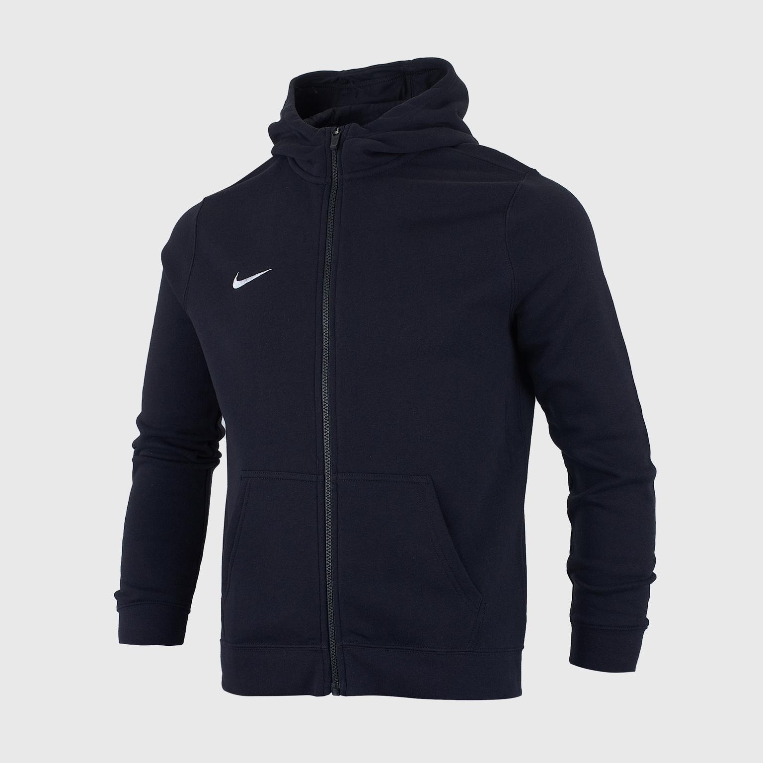 Толстовка подростковая Nike Hoodie FZ FLC Club19 AJ1458-010 толстовка nike nsw club hoodie 804346 010