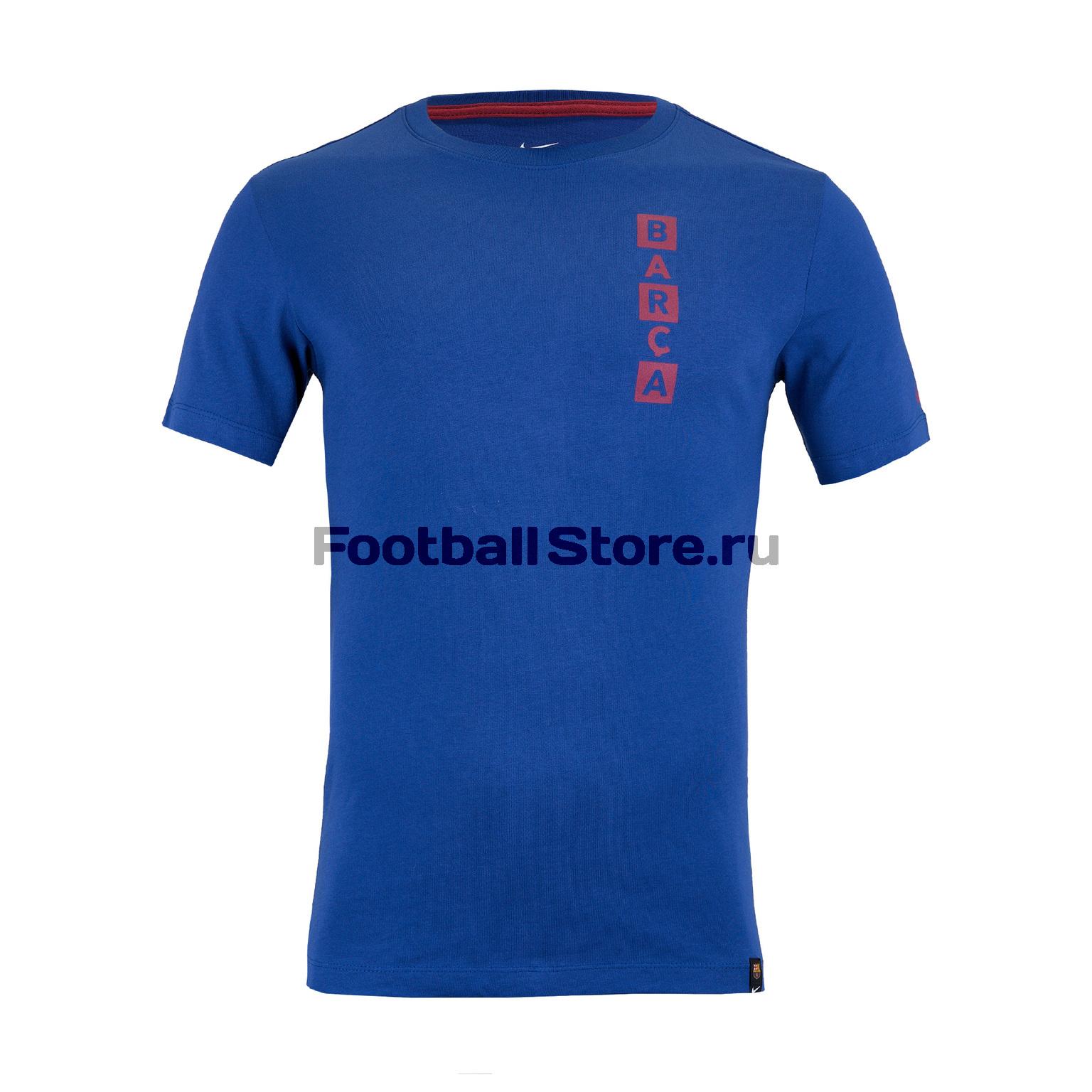 купить Футболка хлопковая Nike Barcelona Tee Kit Story Tell AQ7514-455 дешево