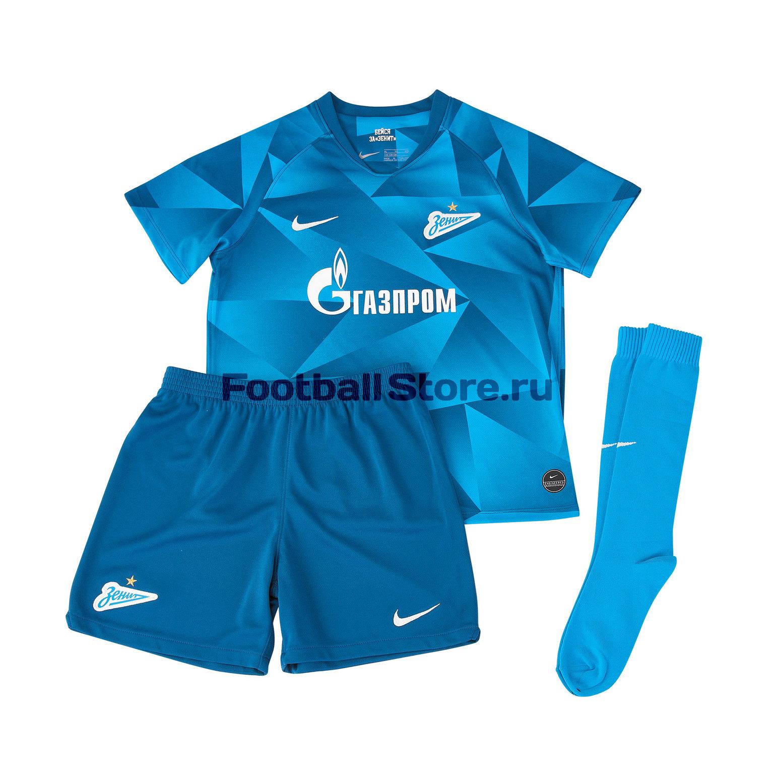 Комплект детской формы Nike Zenit 2019/20 цена и фото