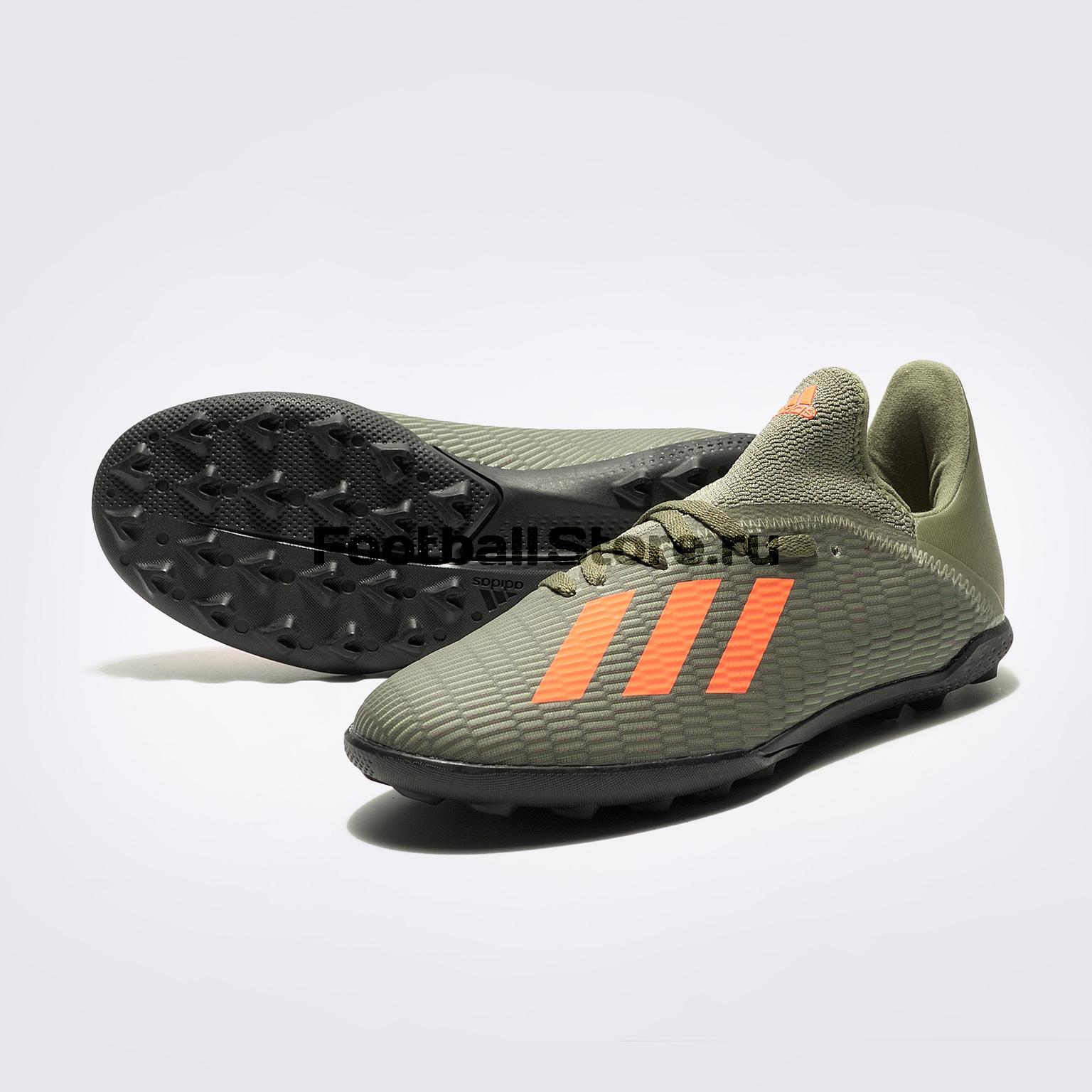 Шиповки детские Adidas X 19.3 TF EF8375 шиповки детские adidas x tango 18 3 tf db2422