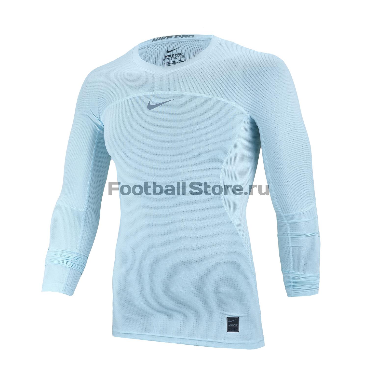цена Белье футболка Nike GFA Hypercool Top Comp 880203-411 онлайн в 2017 году