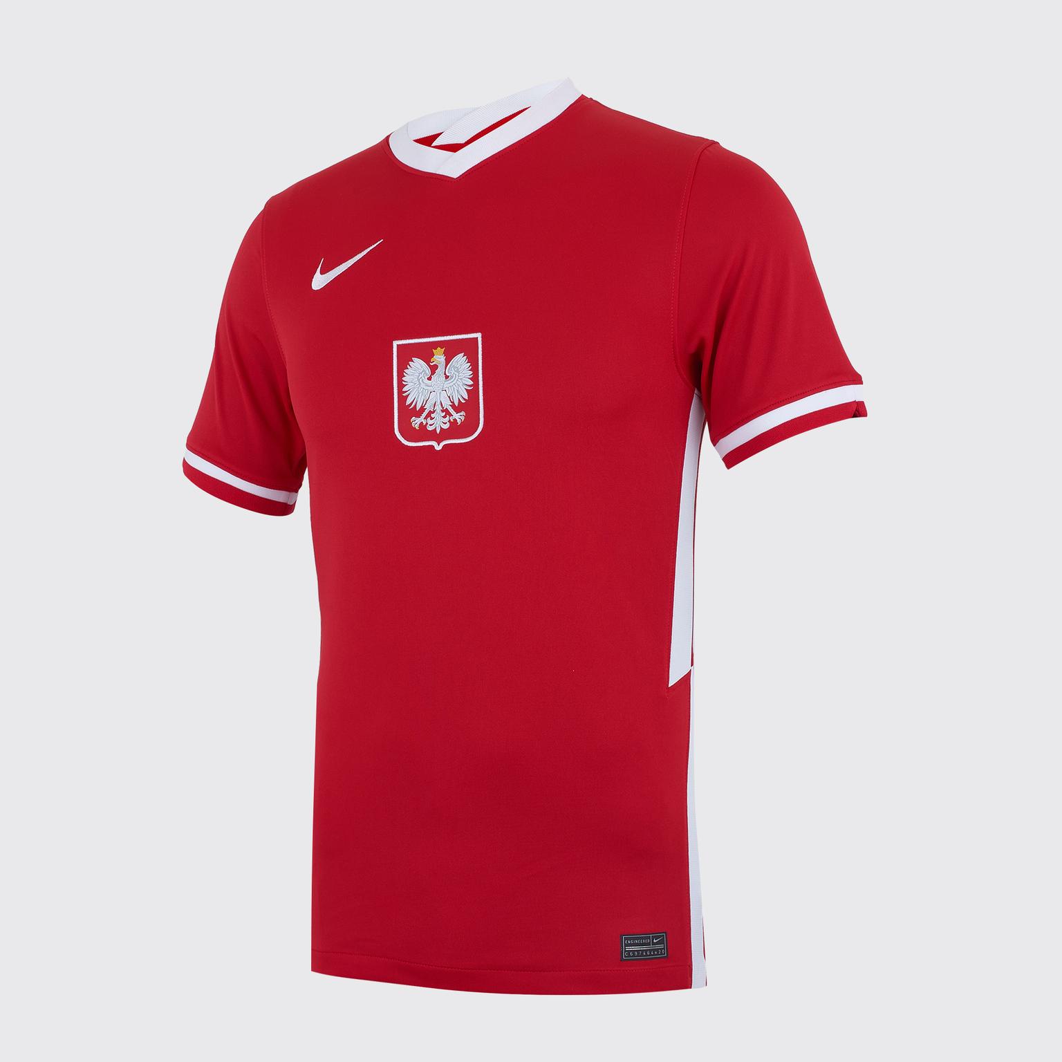 Фото - Футболка игровая выездная Nike сборной Польши CD0721-688 выездная игровая футболка nike фк зенит 2019 20