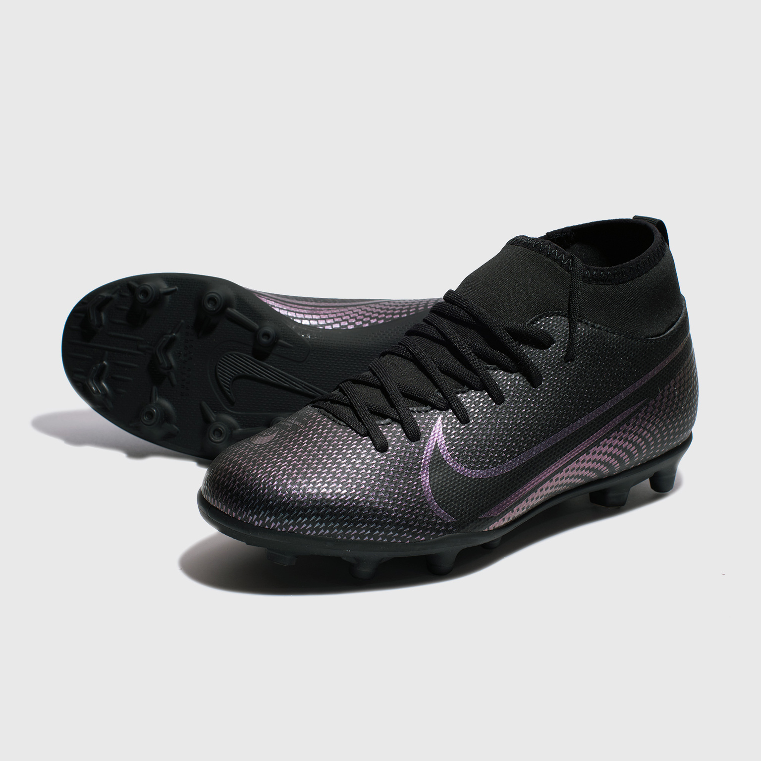 Бутсы детские Nike Superfly 7 Club FG/MG AT8150-010 бутсы nike superfly 6 club fg mg ah7363 001