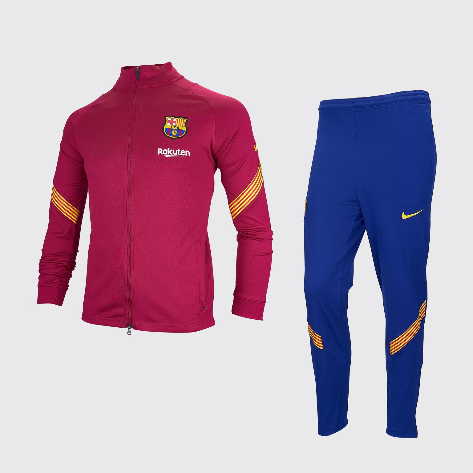 Спортивный подростковый костюм Nike Barcelona сезон 2020/21 костюм спортивный nike spe fleece suit bv3017 058