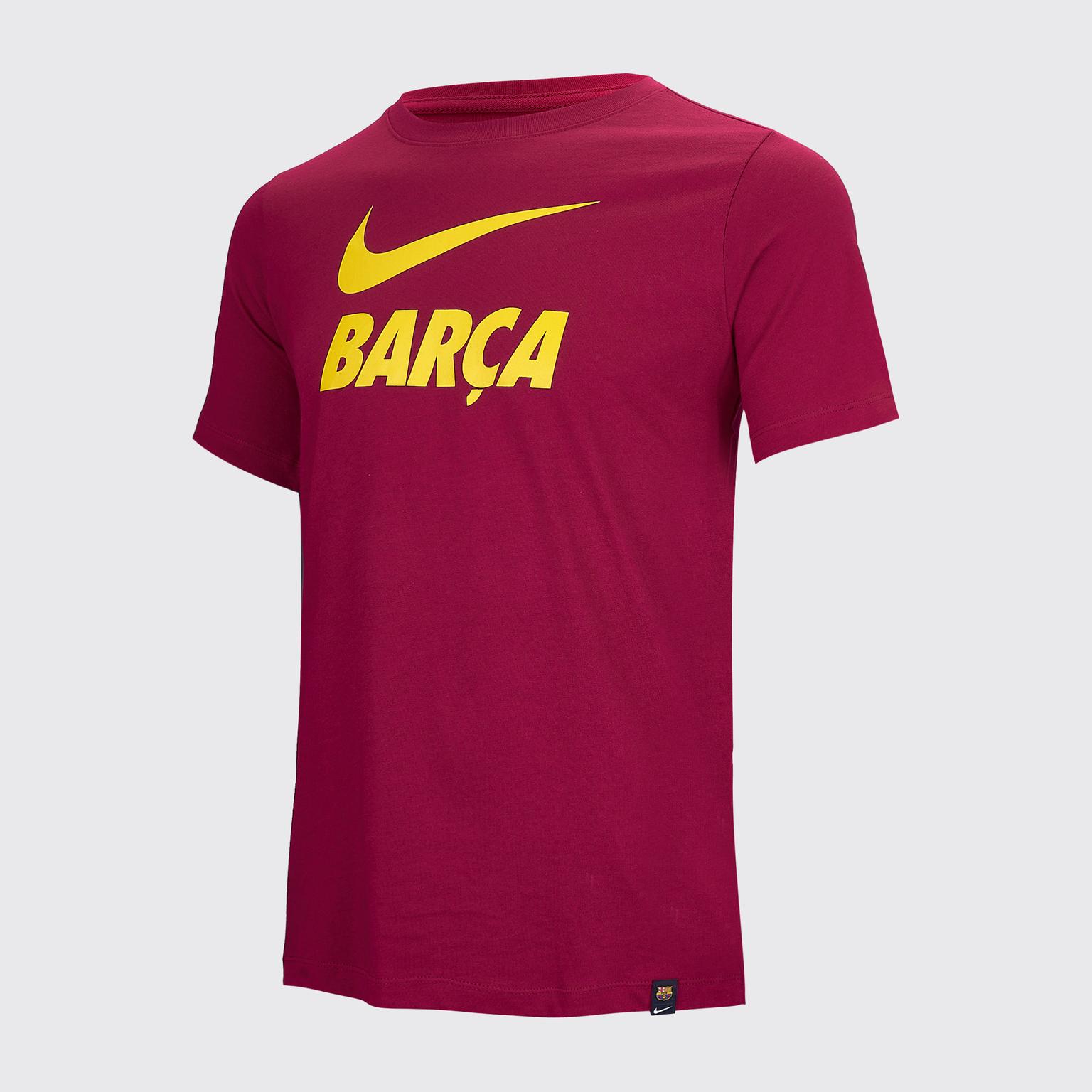 Футболка хлопковая подростковая Nike Barcelona сезон 2020/21