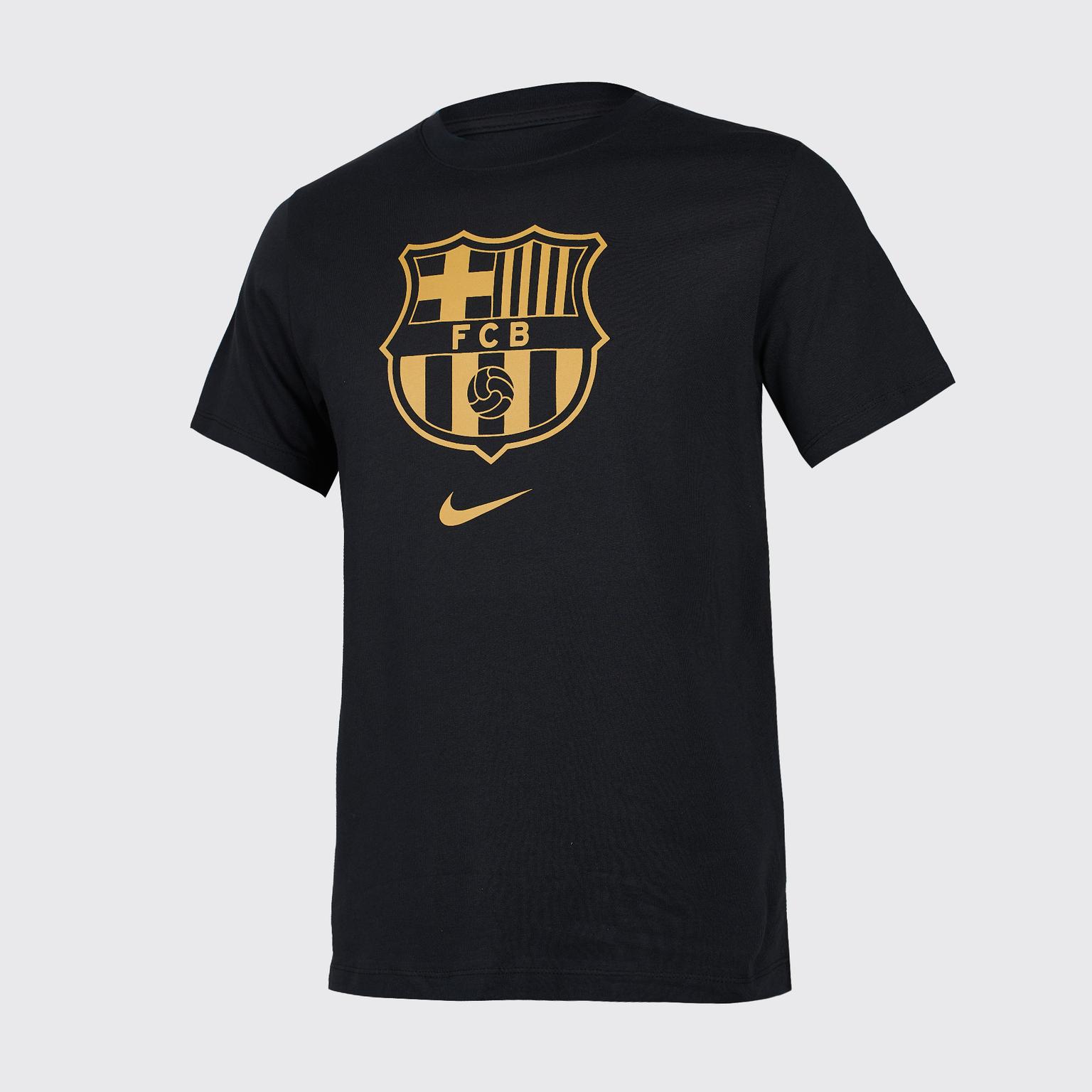 Футболка хлопковая Nike Barcelona Tee Evergreen сезон 2020/21 футболка подростковая nike neymar tee hero cd0174 010