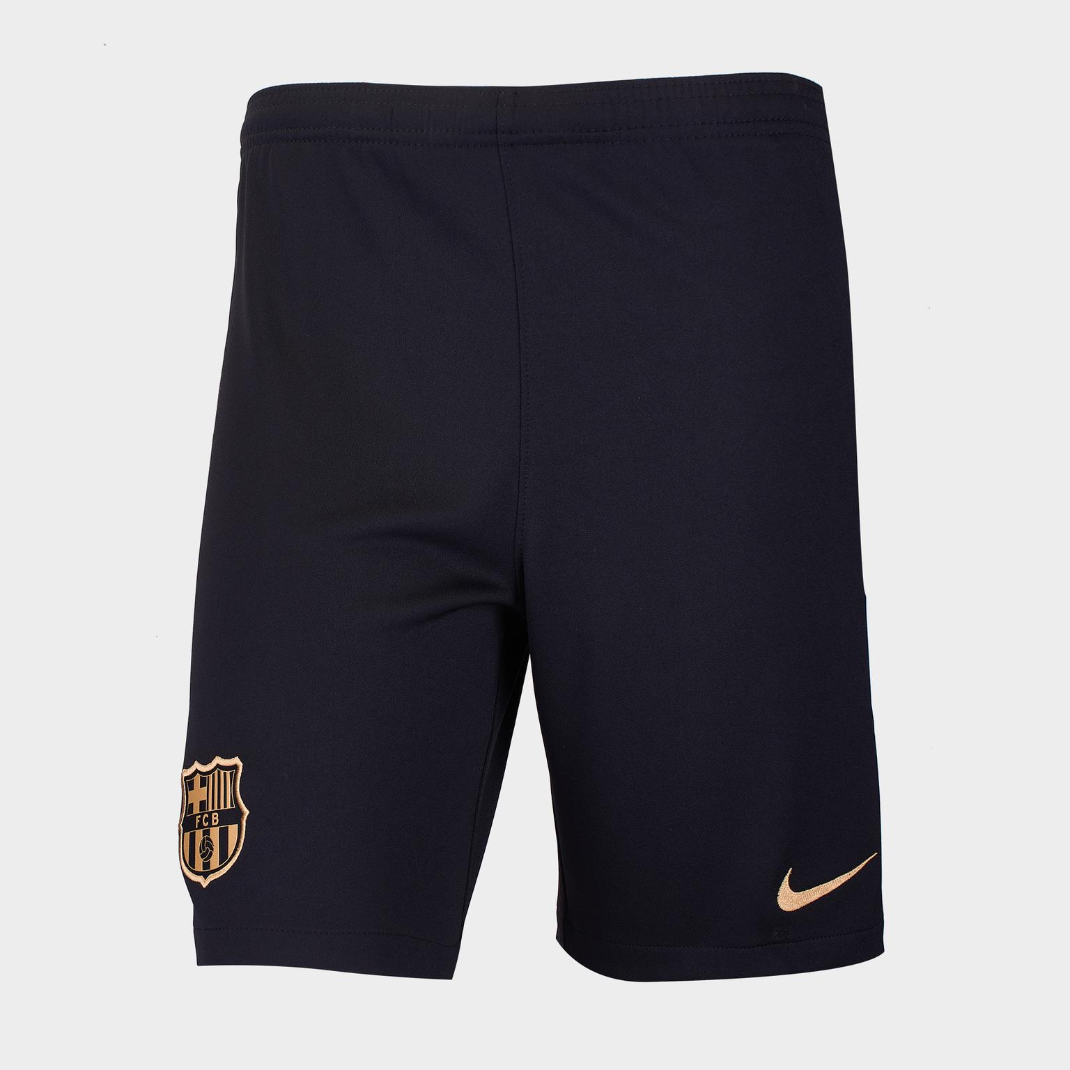 Шорты выездные подростковые Nike Barcelona сезон 2020/21 шорты вратарские nike подростковые сезона 2017 2018 nike цвет зеленый