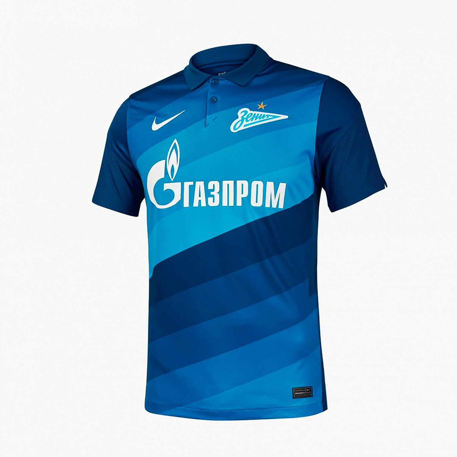 Фото - Домашняя игровая футболка Nike Зенит сезон 2020/21 выездная игровая футболка nike фк зенит 2019 20