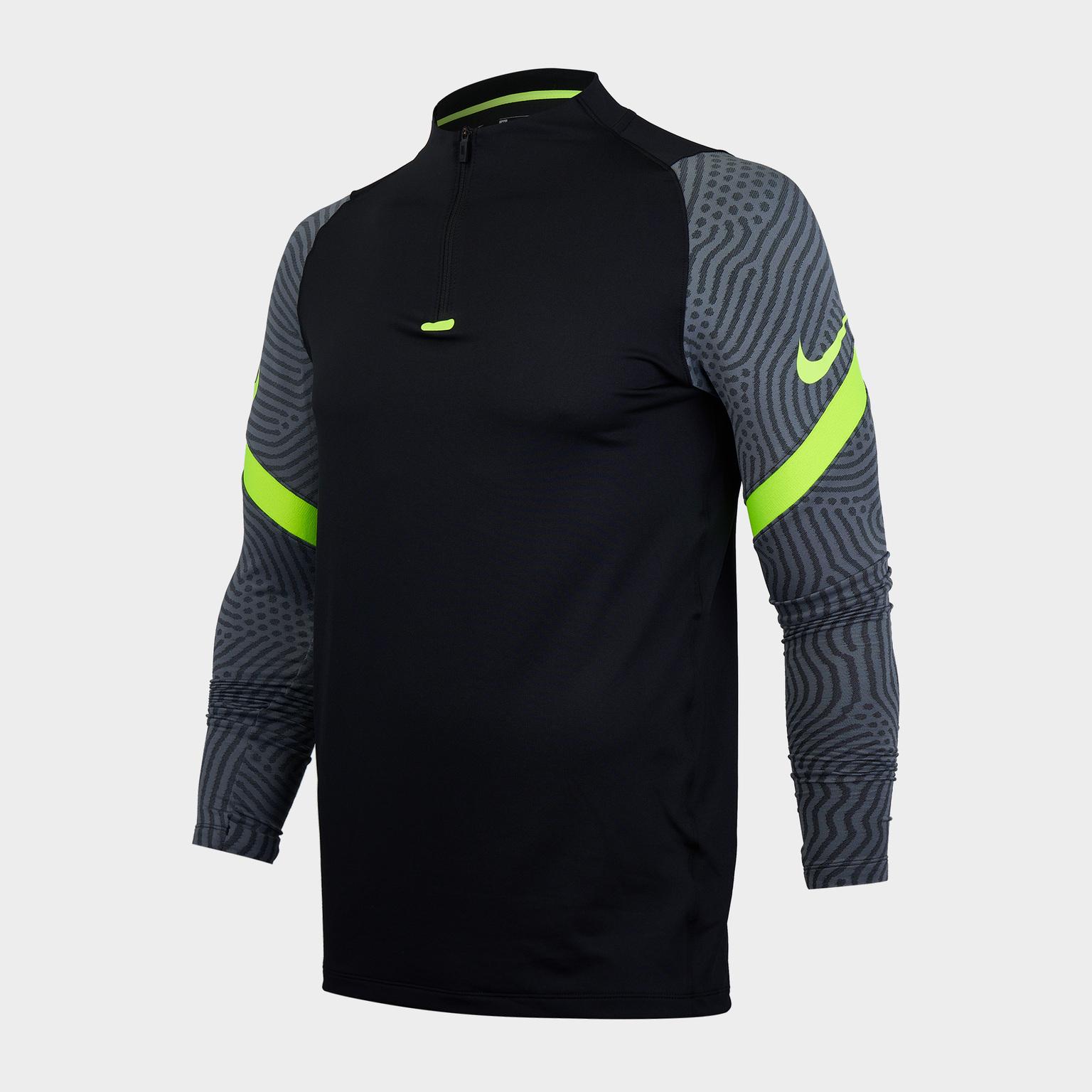 Фото - Свитер тренировочный Nike Dry Strike Dril Top CD0564-011 свитер тренировочный nike dry academy18 dril top ls 893624 451