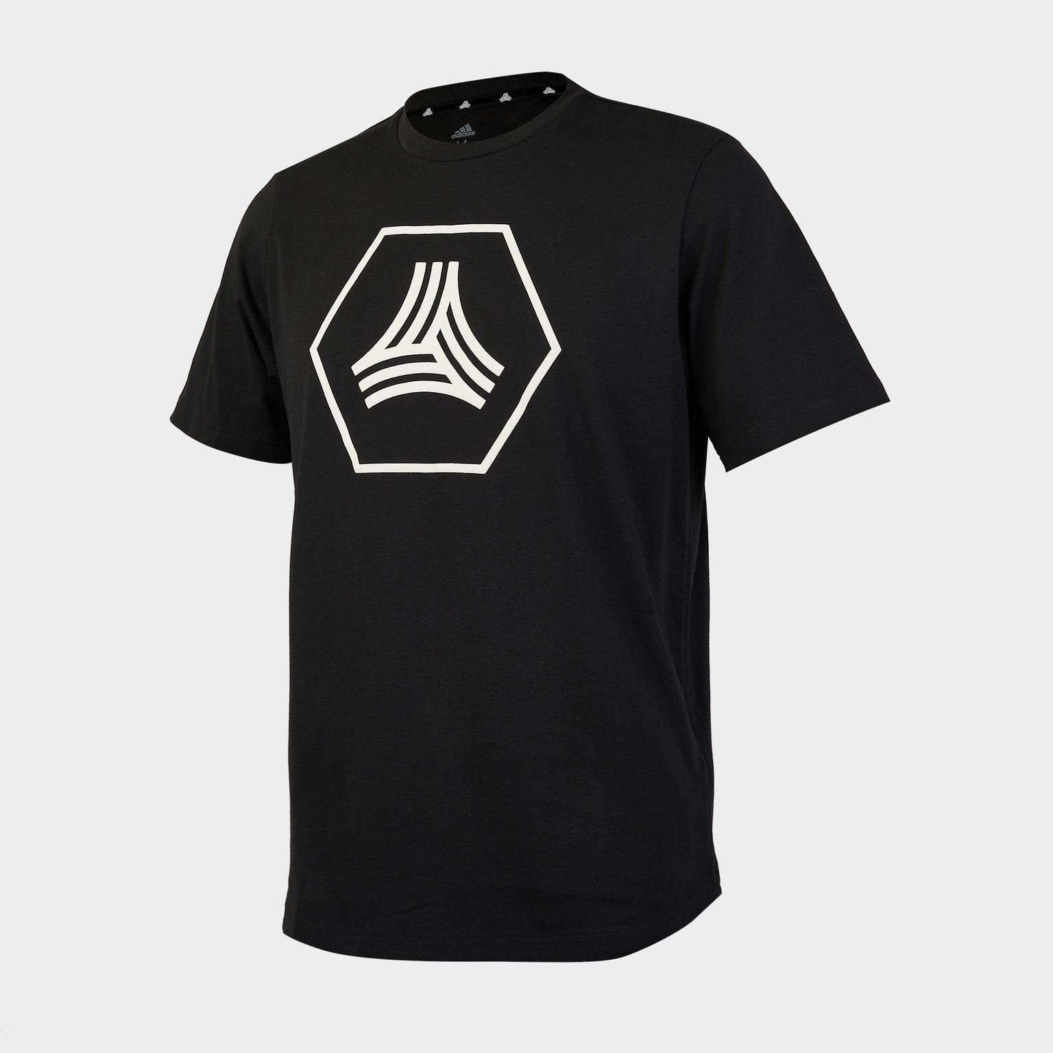 Футболка хлопковая Adidas Tan Logo Tee GE5179 футболка для мальчика adidas yb tr brand tee цвет белый dj1151 размер 134