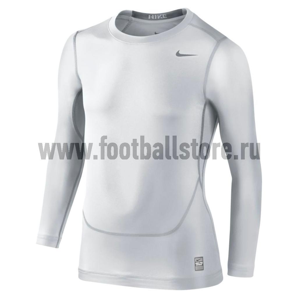 Тренировочная форма Nike Термобелье Майка Nike Pro Core Compression LS Top Boys 413912-100 nike лонгслив element 1 2 zip ls top yth