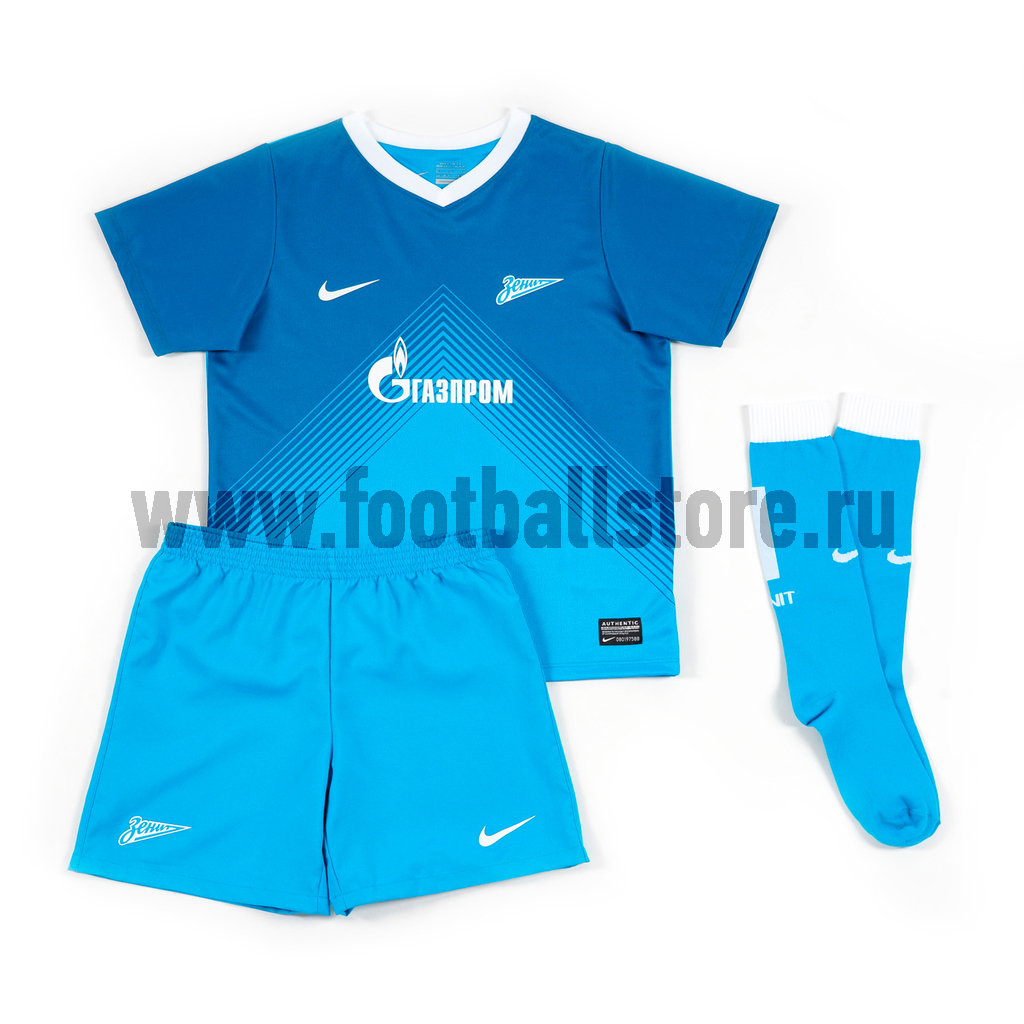 Клубная продукция Nike Комлект формы Nike Zenit Boys Home Kit 544497-499