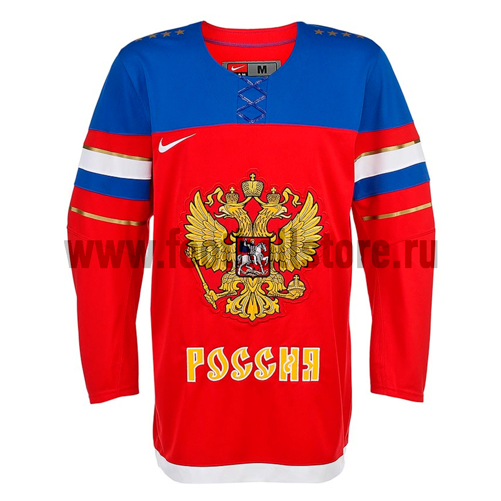 Russia Nike Свитер хоккейный Nike IIHF TWILL JSY 1.3 Russia Sochi 575596-657
