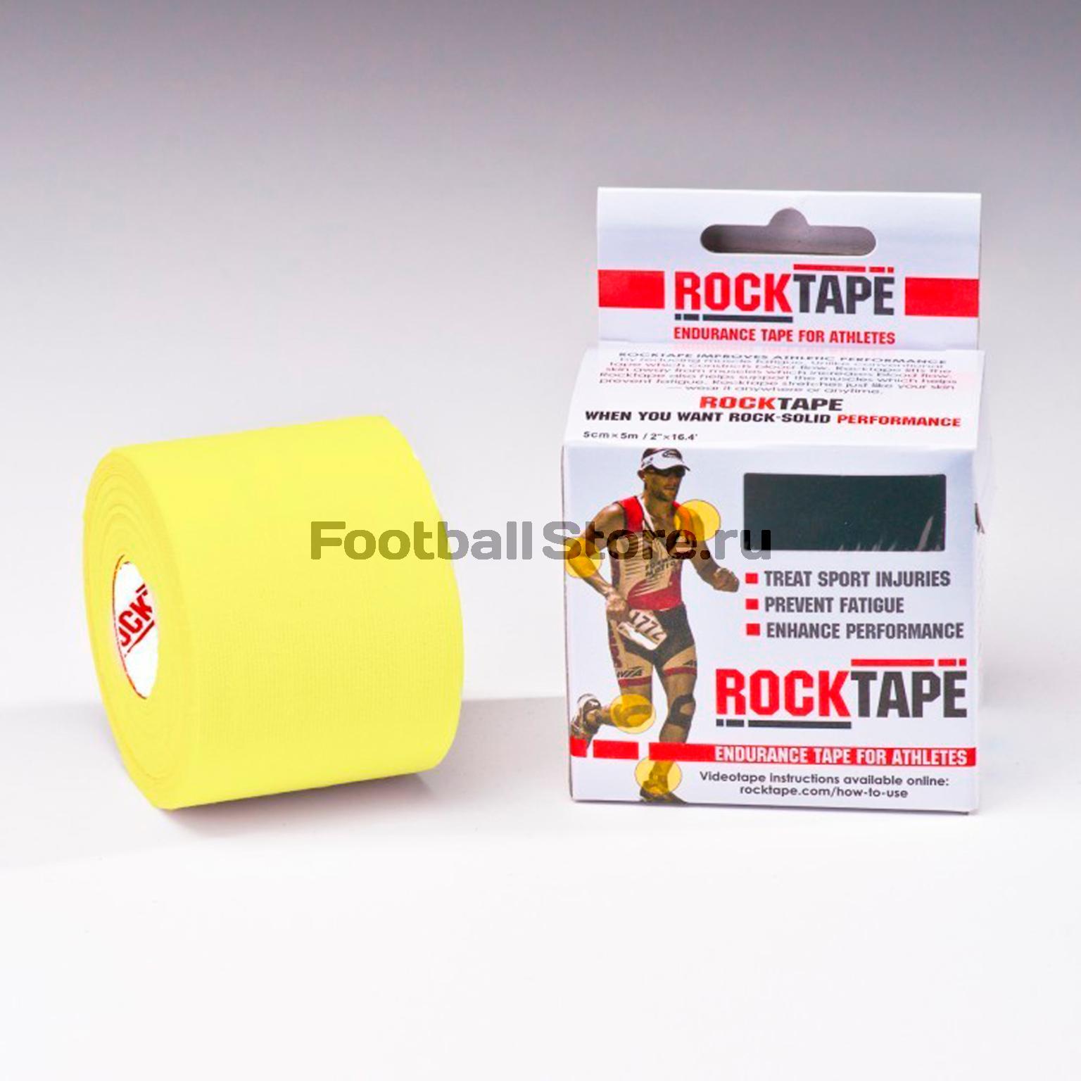 Тейп Кинезио Rocktape, classic, желтый 5см х 5м