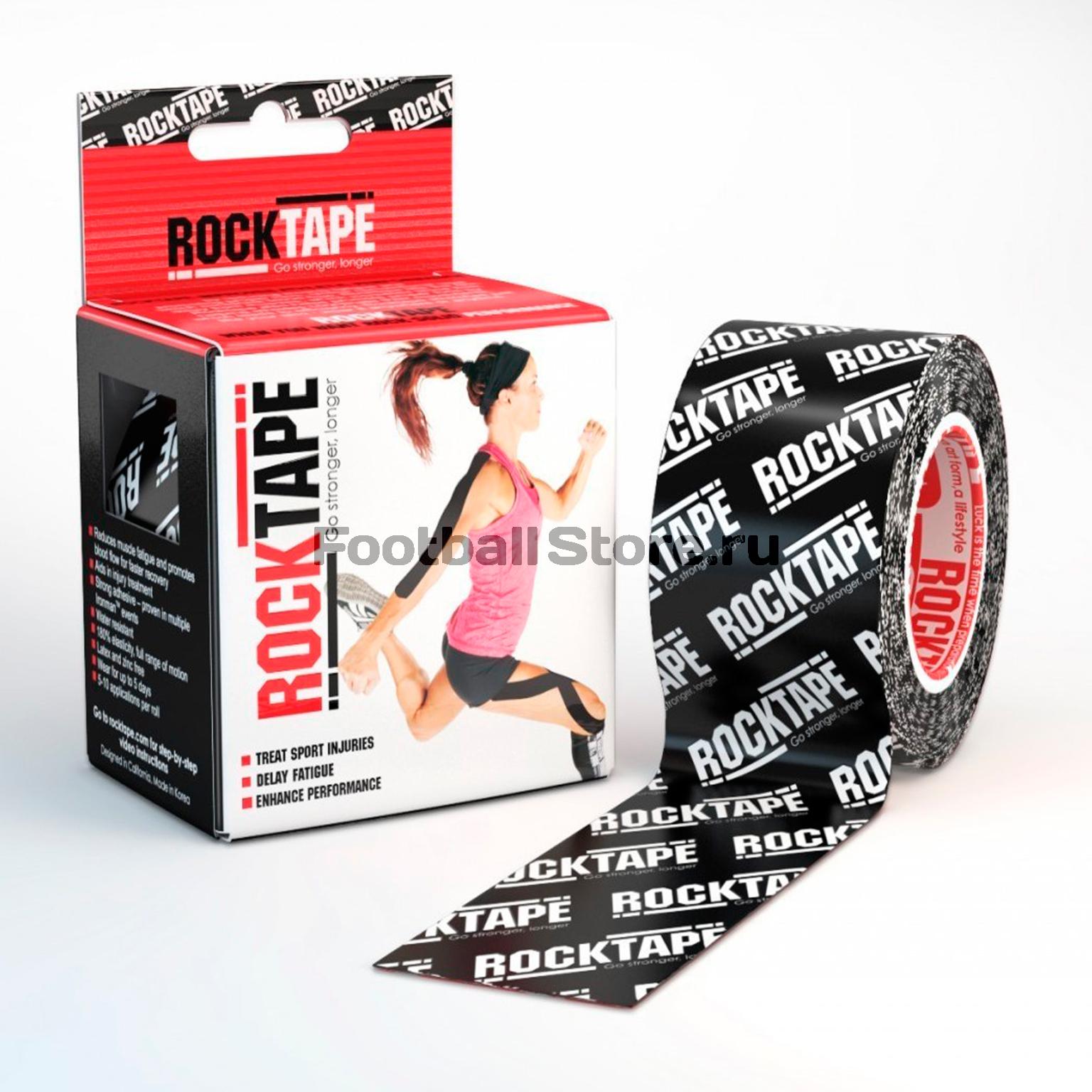 Тейп Кинезио Rocktape, classic, черн. лого 5см х 5м