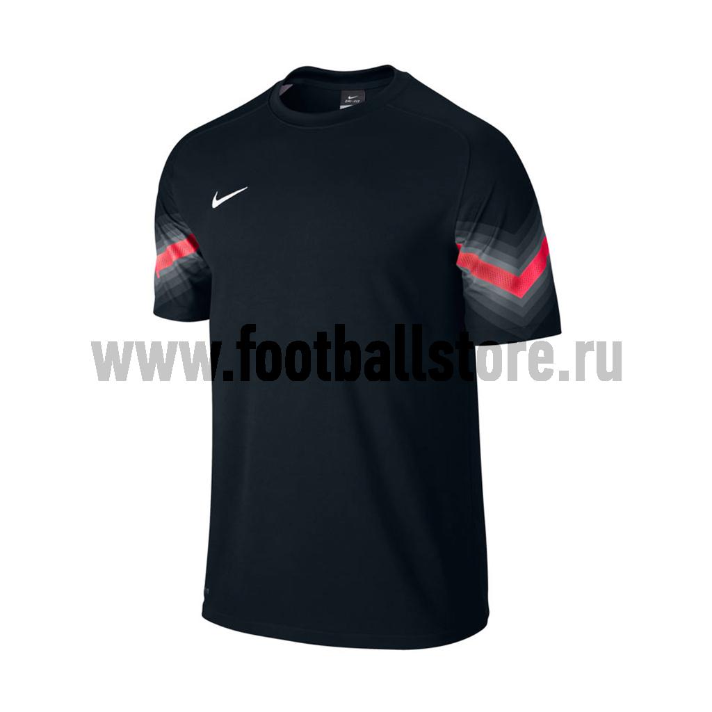 Футболка вратарская Nike SS Goleiro JSY 588416-010 футболки nike футболка игровая nike ss revolution iv jsy 833017 010