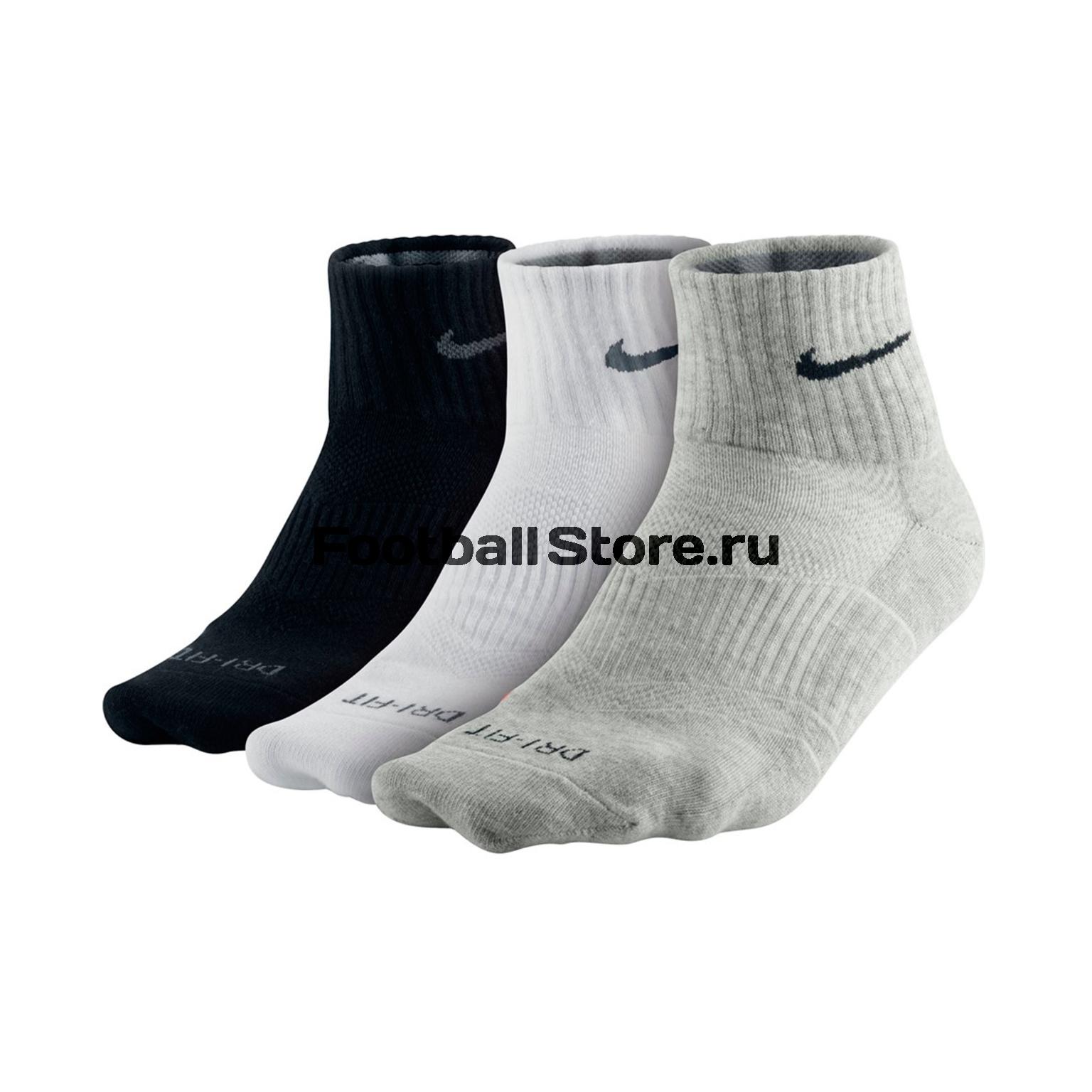 Носки Nike Комплект носков Nike 3PPK D-F Lightweight QTR SX4847-901