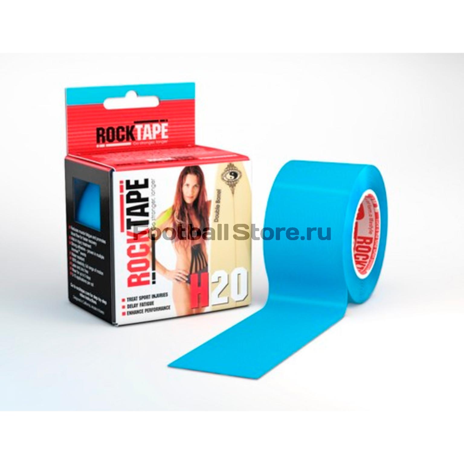 Тейп Кинезио Rocktape, H2O, голубой 5см х 5м