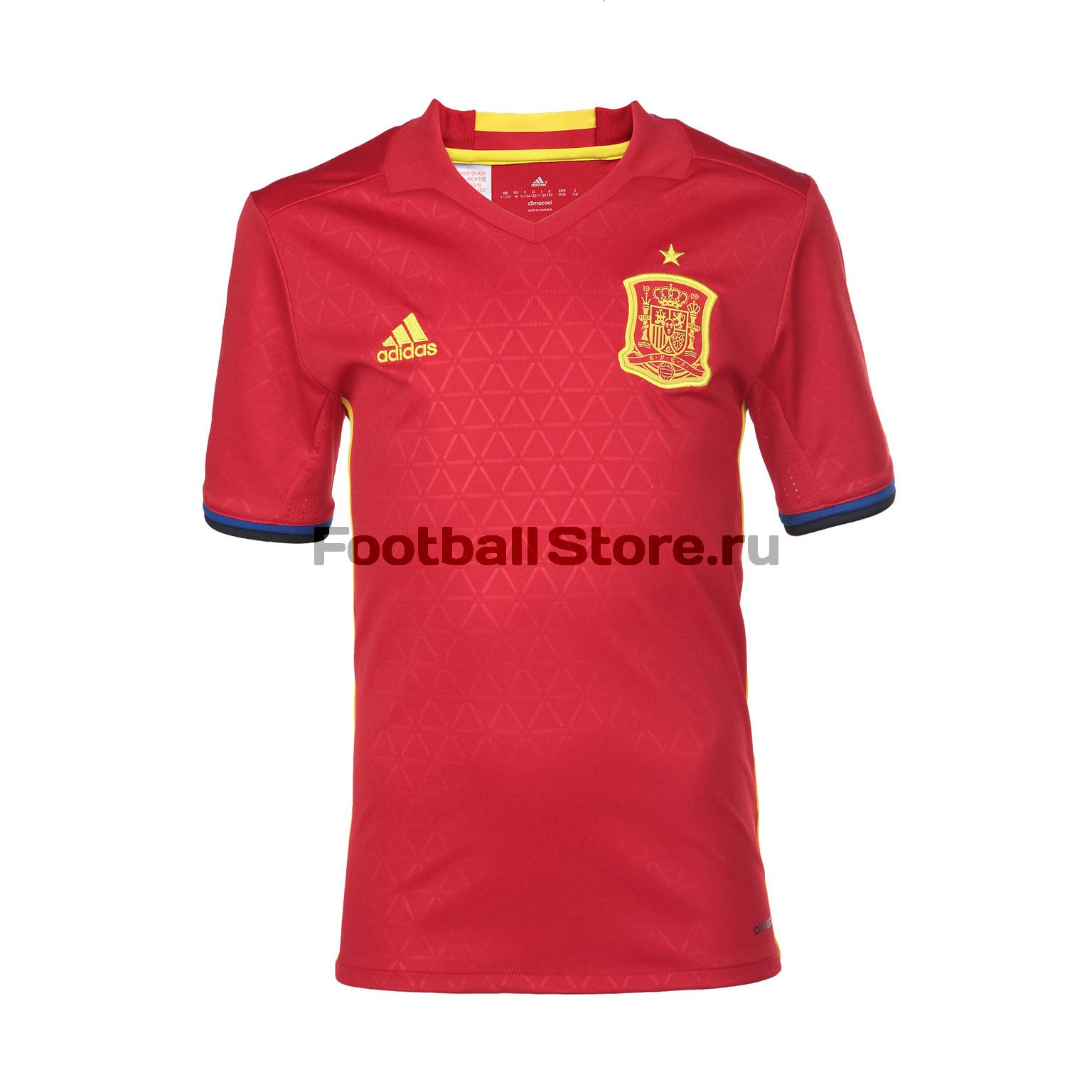 Клубная продукция Adidas Футболка подростковая Adidas Spain Home AA0850