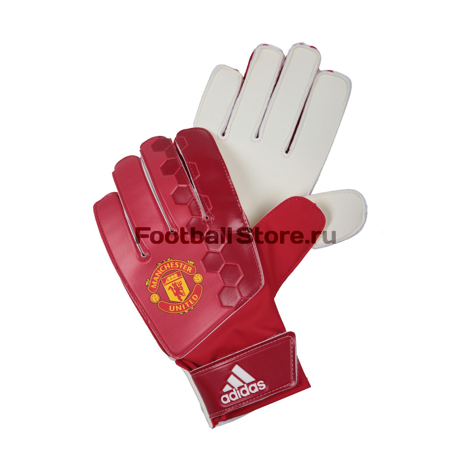 Перчатки вратарские Adidas Manchester United AP7019 сумка adidas manchester united 2018 19