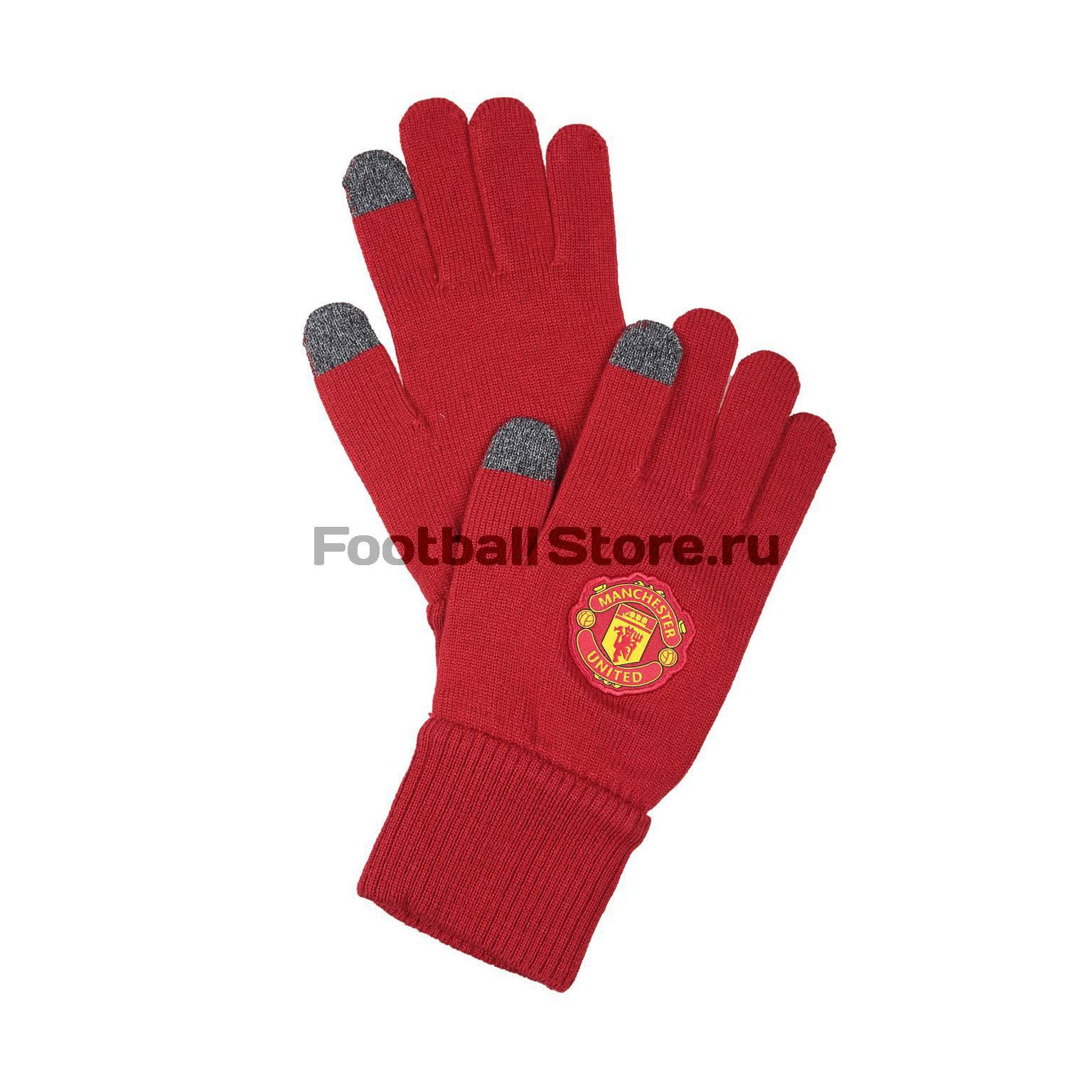 Manchester United Adidas Перчатки тренировочные Adidas Manchester United Gloves S95093