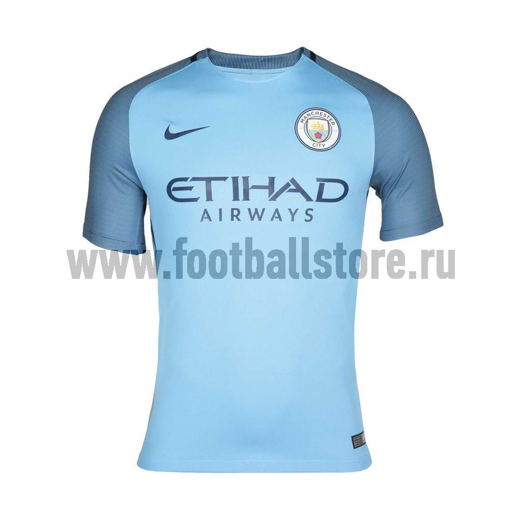 Футболка игровая Nike Manchester City Home Stadium 776907-489