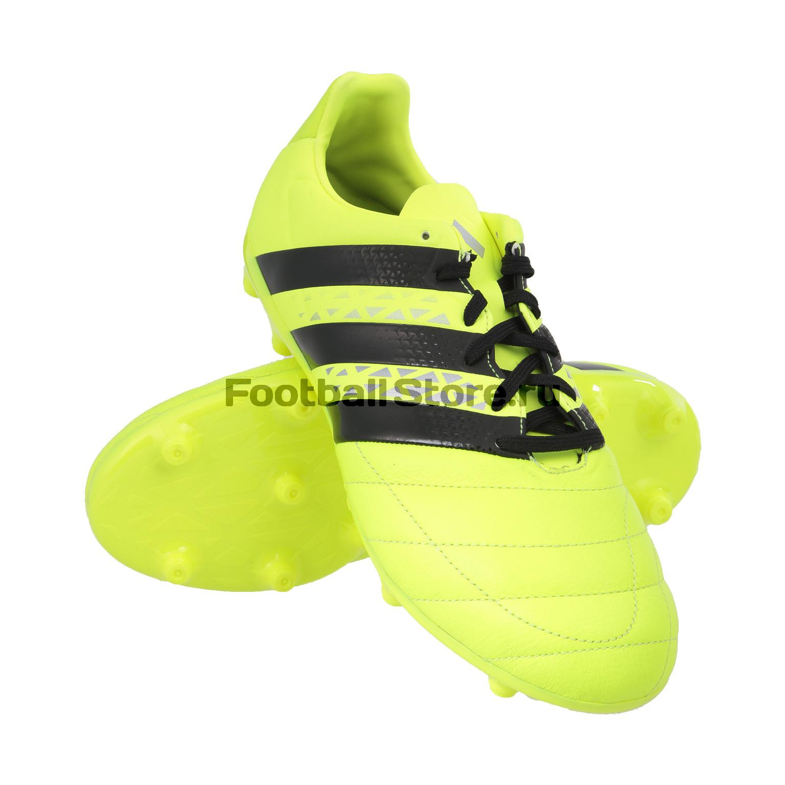 Игровые бутсы Adidas Бутсы Adidas Ace 16.3 FG Leather AQ4456 adidas бутсы adidas ace 16 1 fg ag le af5098