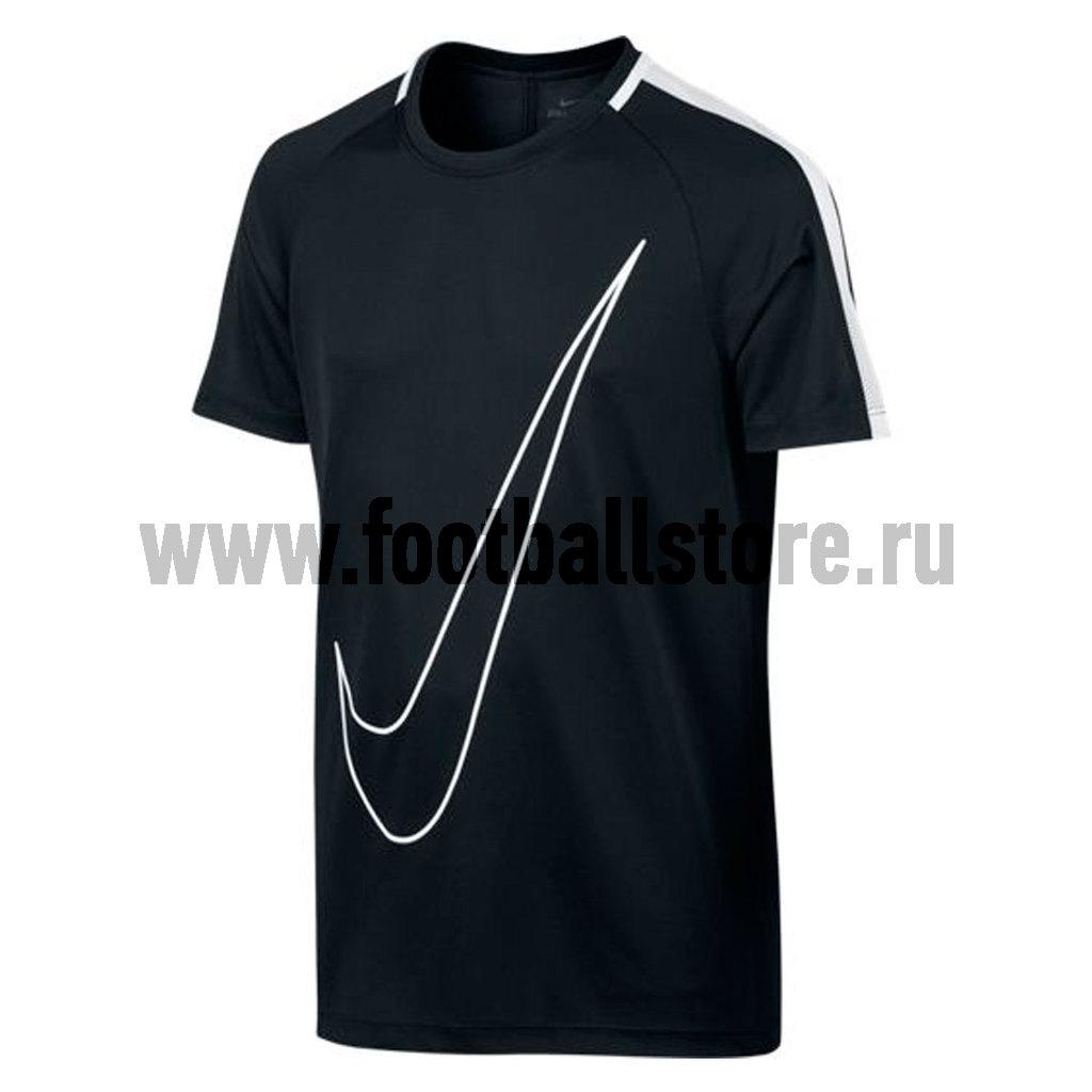 Игровая форма Nike Футболка Nike Boys ACDMY TOP SS 832991-010 термобелье верх поддевка nike core comp ss top yth sp15 522801 010 s l чёрный