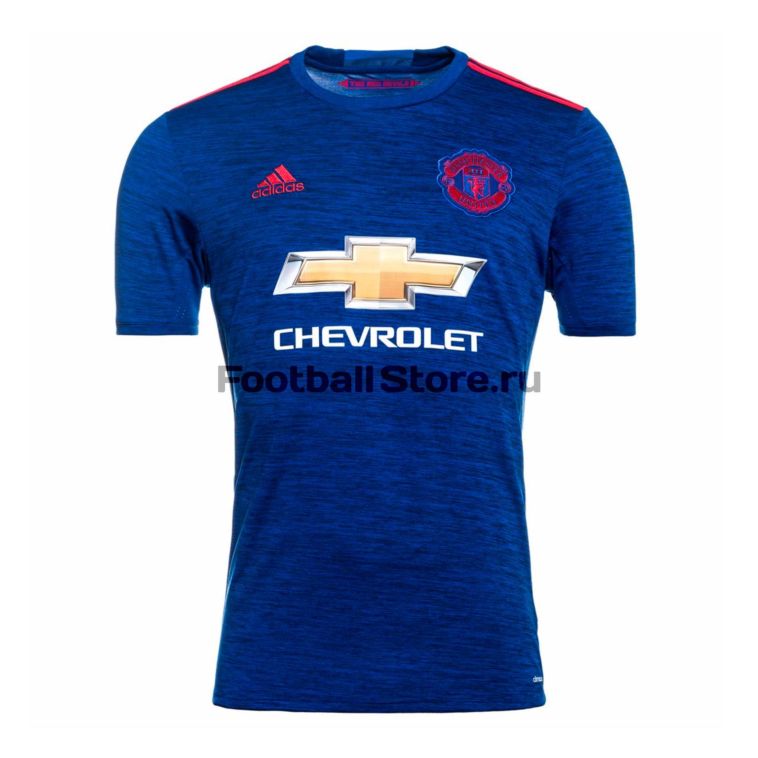 Manchester United Adidas Футболка игровая Adidas Away Manchester United AI6704 adidas футболка russia away