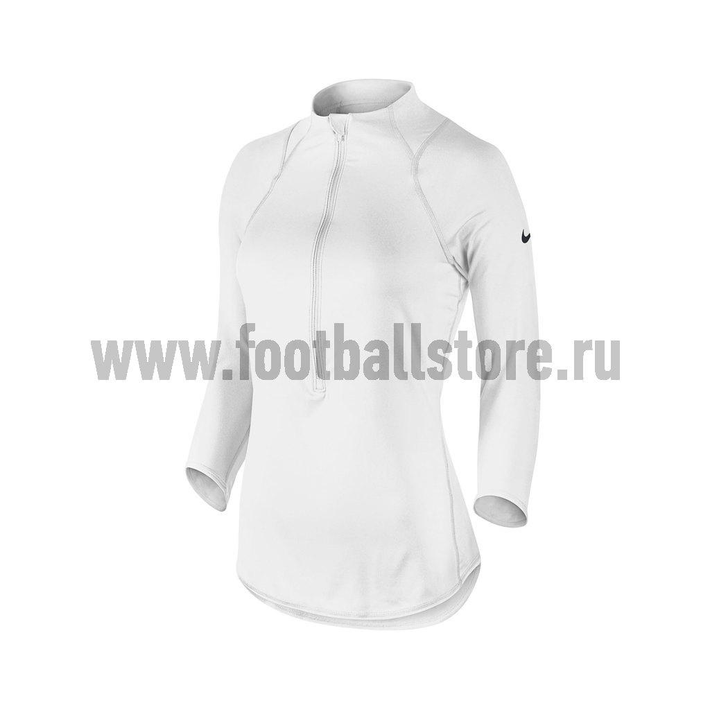 Футболки Nike Футболка женская Nike Baseline 1/2 Zip Top 546075-102 ufokids с дверцами розовый baseline