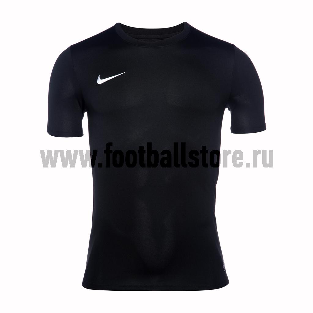 Футболки Nike Футболка игровая Nike SS Park VI JSY 725891-010 термобелье верх поддевка nike core comp ss top yth sp15 522801 010 s l чёрный