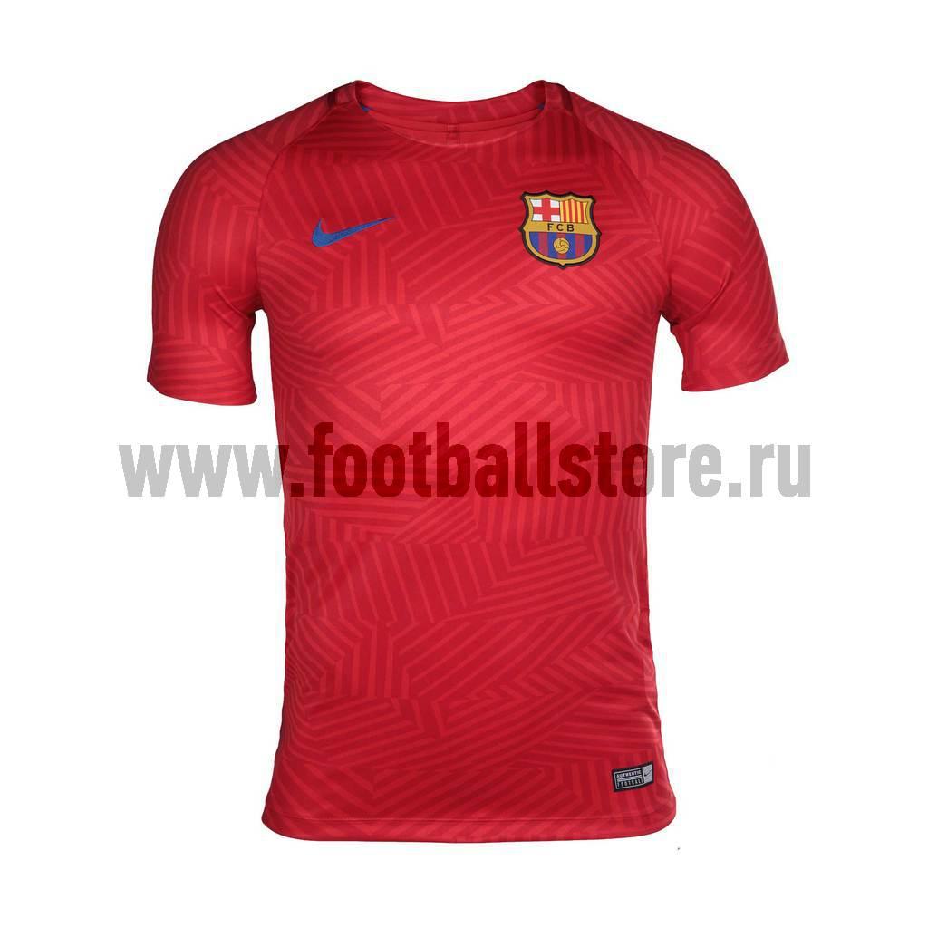 Barcelona Nike Футболка тренировочная Nike FCB M NK Dry SQD Top SS GX 808921-658 игровая форма nike футболка игровая детская nike y nk dry sqd top ss 807269 842