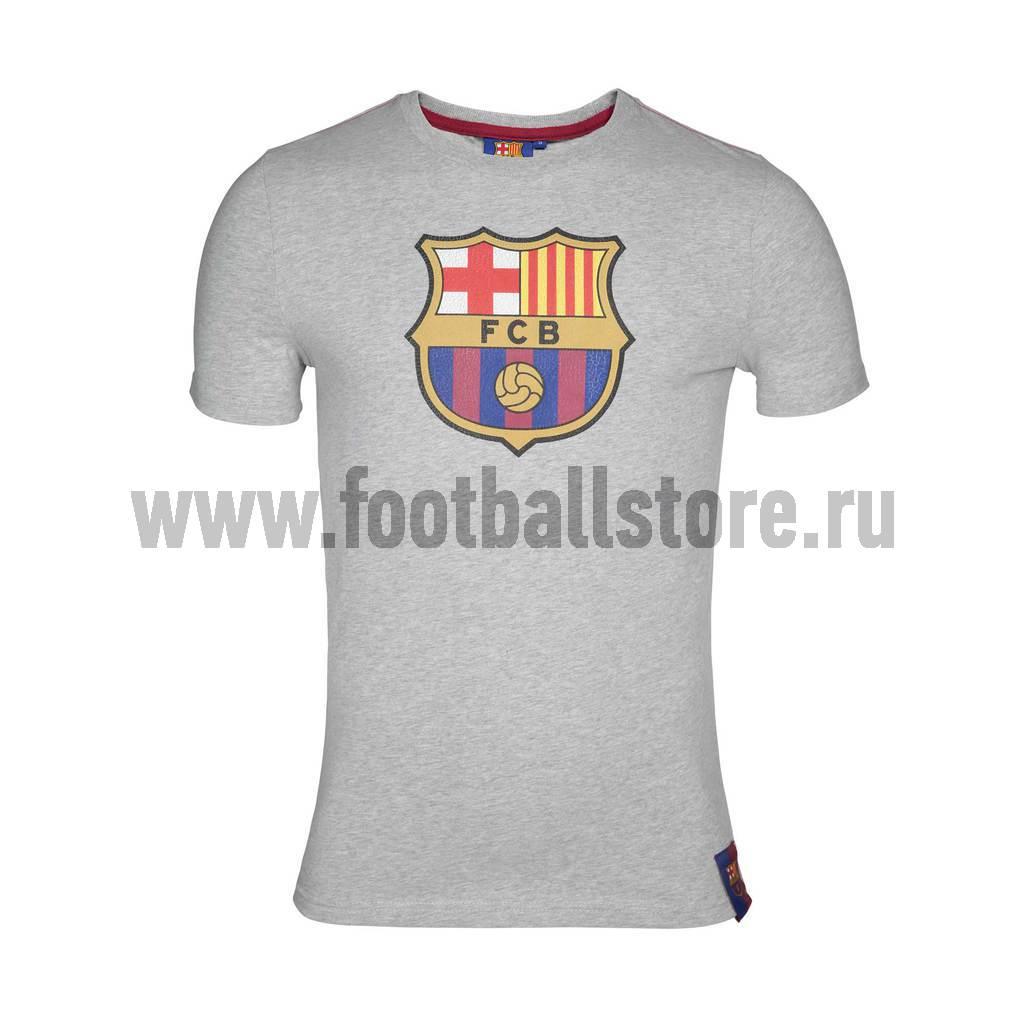 Атрибутика Футболка FC Barcelona серая арт.130200
