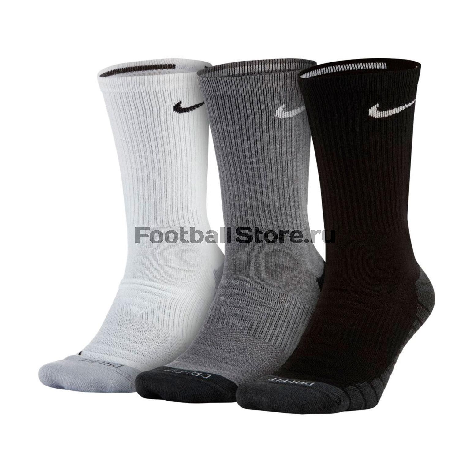 6748b121 Комплект носков Nike 3PPK Dri-Fit Cushion Crew SX5547-900 – купить в  интернет магазине footballstore, цена, фото