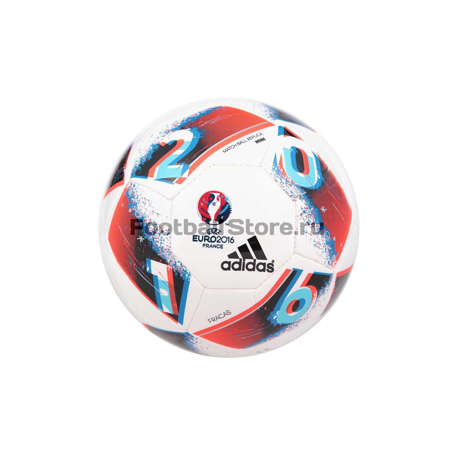 Мяч сувенирный Adidas EURO16 Mini AO4850 – купить в интернет магазине  footballstore 48fe822e8b4f4
